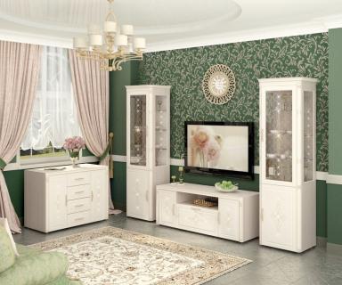 Комплект мебели для гостиной Венеция №04 Сосна Астрид Ваниль
