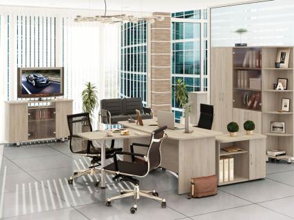 Набор мебели для офиса Лидер №3 Дуб Кронберг