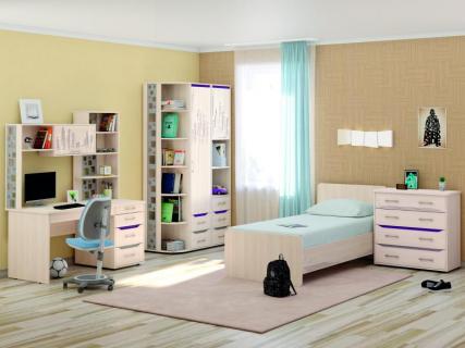 Комплект мебели для комнаты подростка Мегаполис №3 Сосна Астрид
