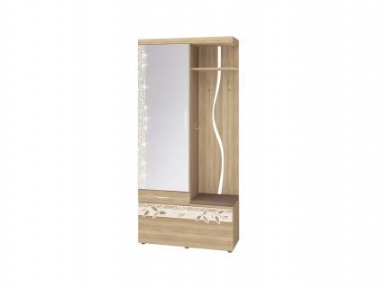 Панель с крючками комбинированная с зеркалом Ассоль 46.07