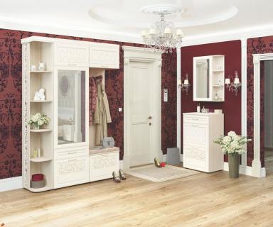 Угловой  набор мебели для прихожей Тиффани 4 Сосна Астрид Мелинга Игуана