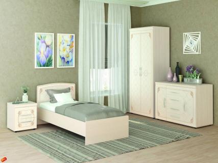Комплект мебели для спальни Версаль №03 Сосна Астрид Ваниль Санчо бежевый