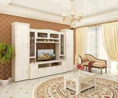 Комплект мебели для гостиной Венеция №05 Сосна Астрид Ваниль