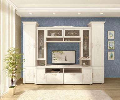 Комплект мебели для гостиной Венеция №03 Сосна Астрид Ваниль