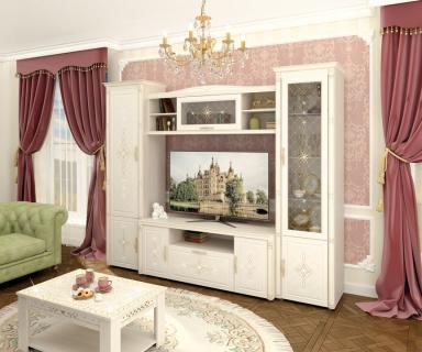 Комплект мебели для гостиной Венеция №07 Сосна Астрид Ваниль