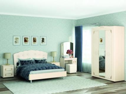 Комплект мебели для спальни Версаль №08 Сосна Астрид Ваниль Санчо бежевый