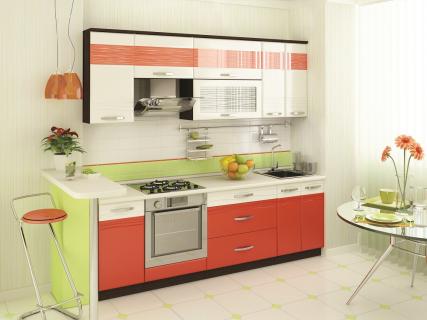 Кухня 2,4 метра Оранж-9 Набор 3 (выставочный образец)