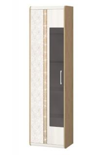 Шкаф-витрина большой (лев/прав) Адель 65.06 Дуб Бунратти/Ваниль